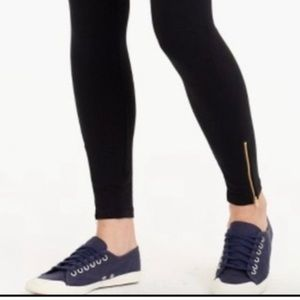 J. Crew Medium black leggings with ankle zip